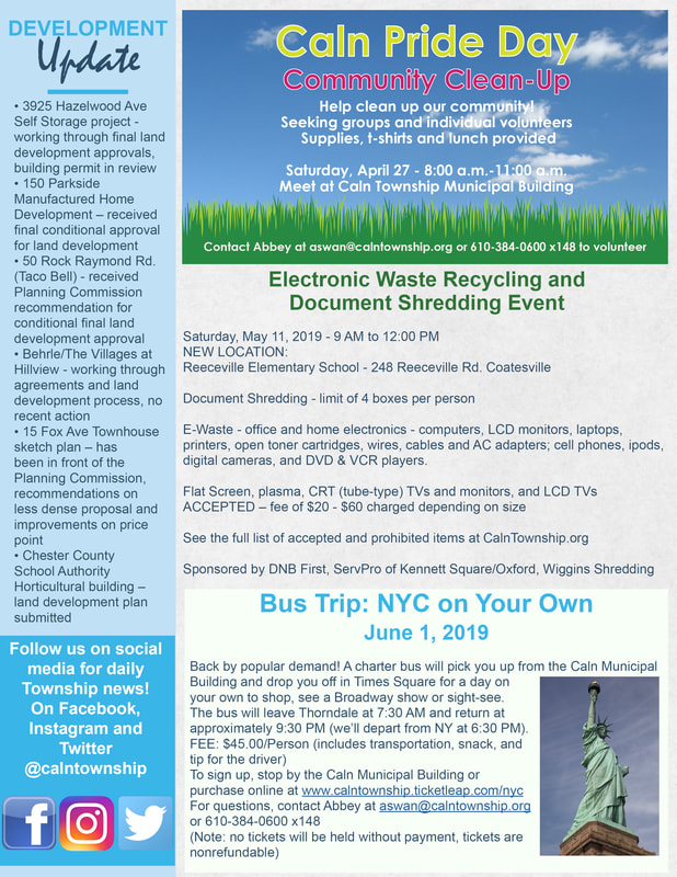 April 2019 Newsletter - Caln Township