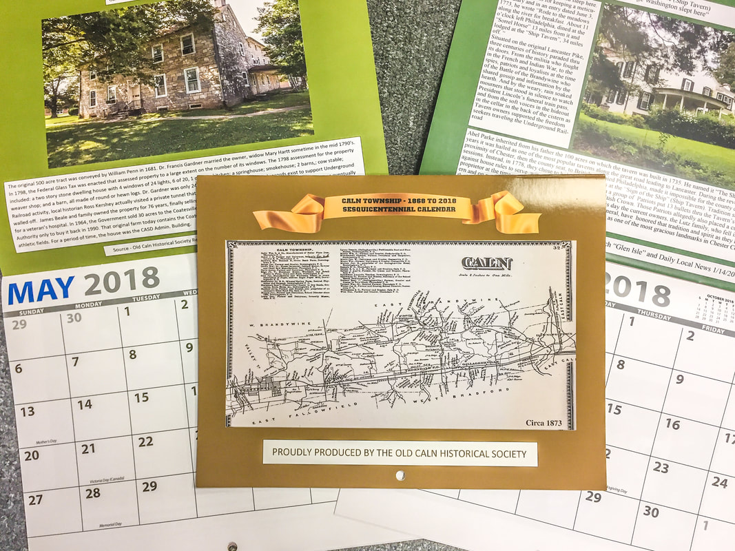 the annual old caln historical society calendars are now on sale get your special caln township sesquicentennial 150th anniversary edition for just 10